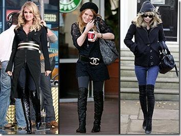 Botas altas y Jeans