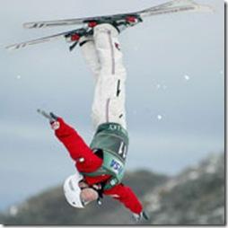 esquiando al revés