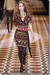 vestido folk gucci